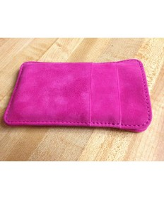 Pink Leather iPhone 5 Wallet
