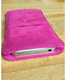 Pink Leather iPhone 4/4S Wallet